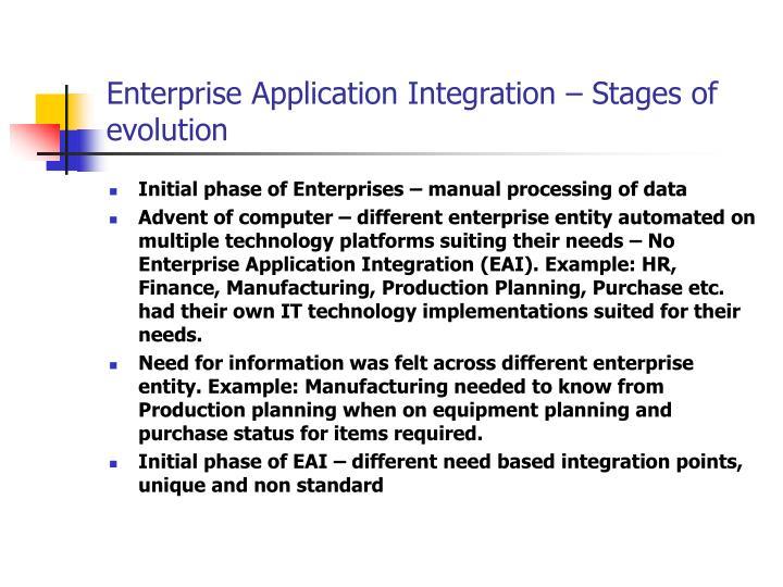 Enterprise Application Integration – Stages of evolution