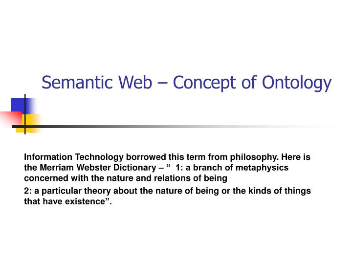 Semantic Web – Concept of Ontology