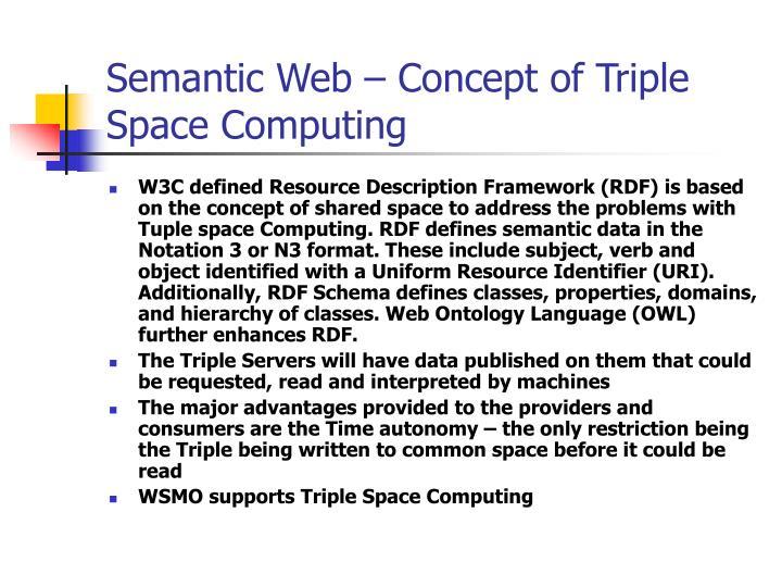 Semantic Web – Concept of Triple Space Computing