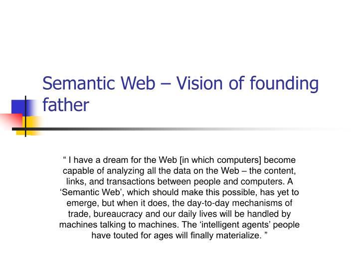 Semantic Web – Vision of founding father