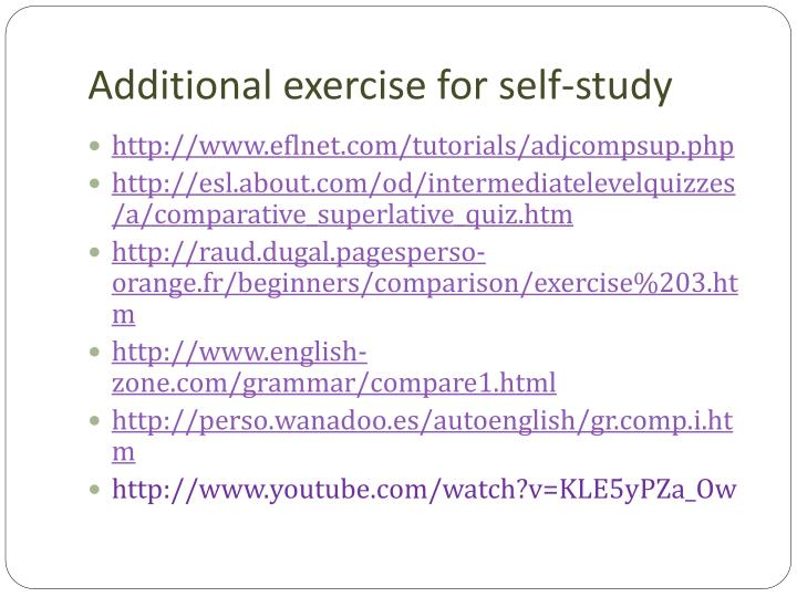Additional exercise for self-study