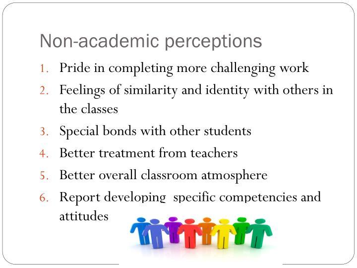 Non-academic perceptions