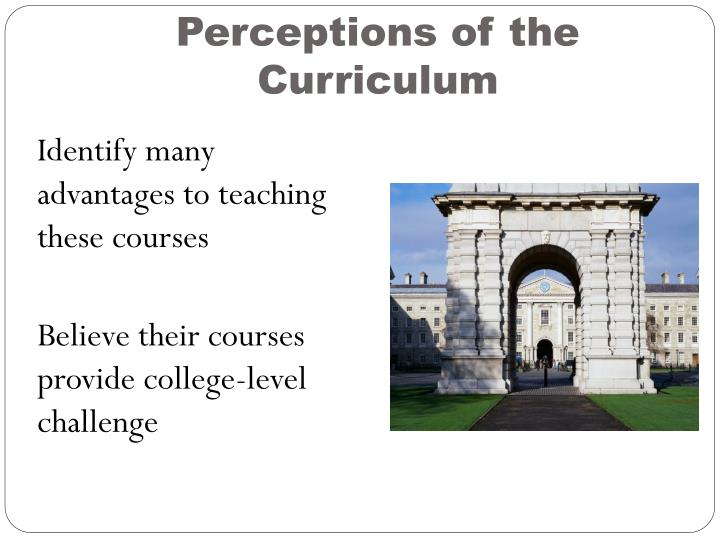 Perceptions of the Curriculum