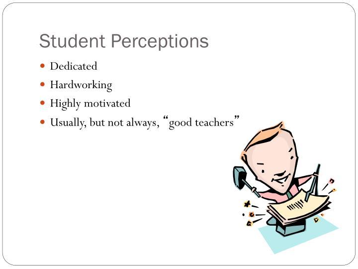 Student Perceptions