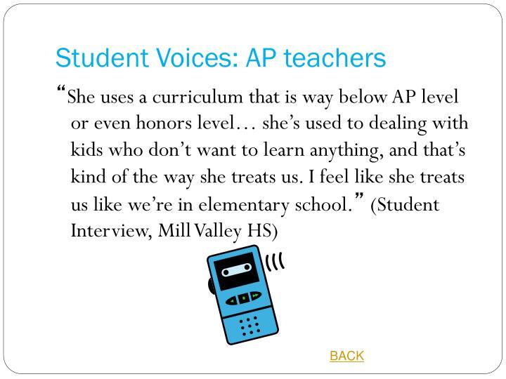 Student Voices: AP teachers