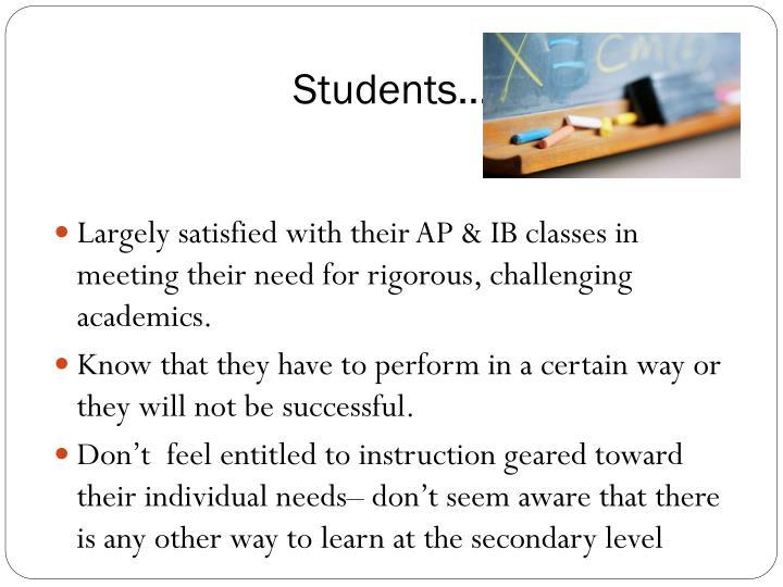 Students…