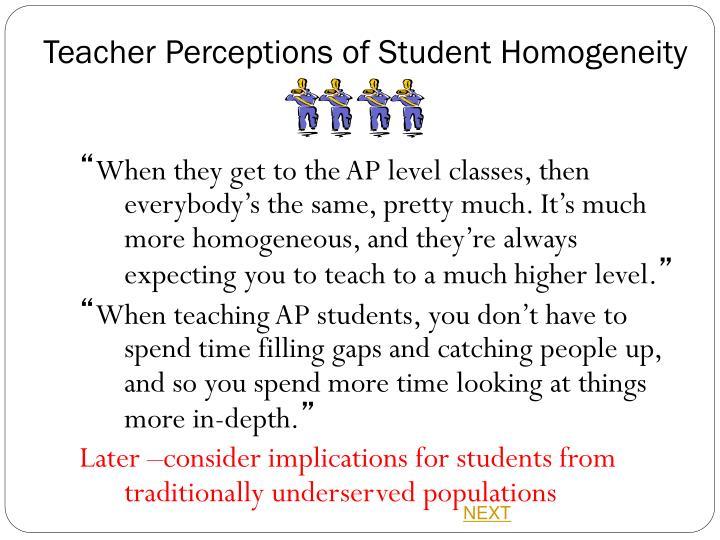Teacher Perceptions of Student
