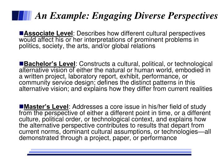 An Example: Engaging Diverse Perspectives