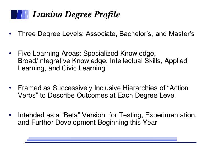 Lumina Degree Profile