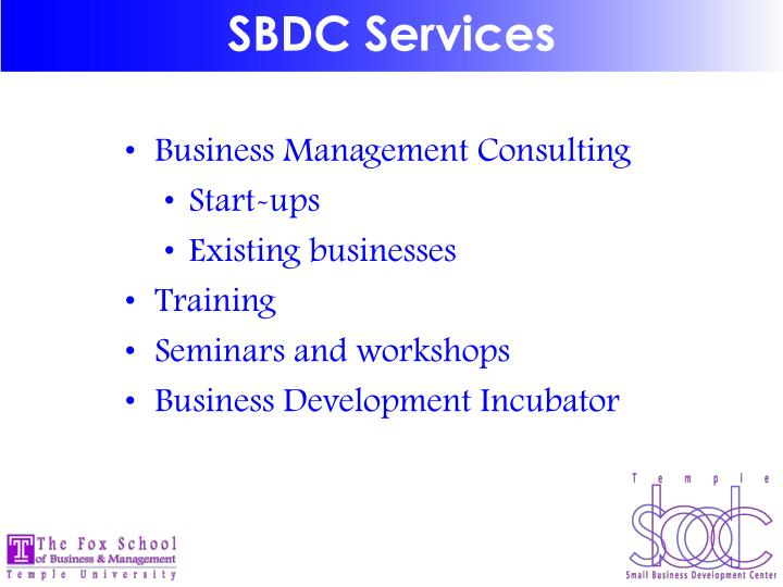 SBDC Services