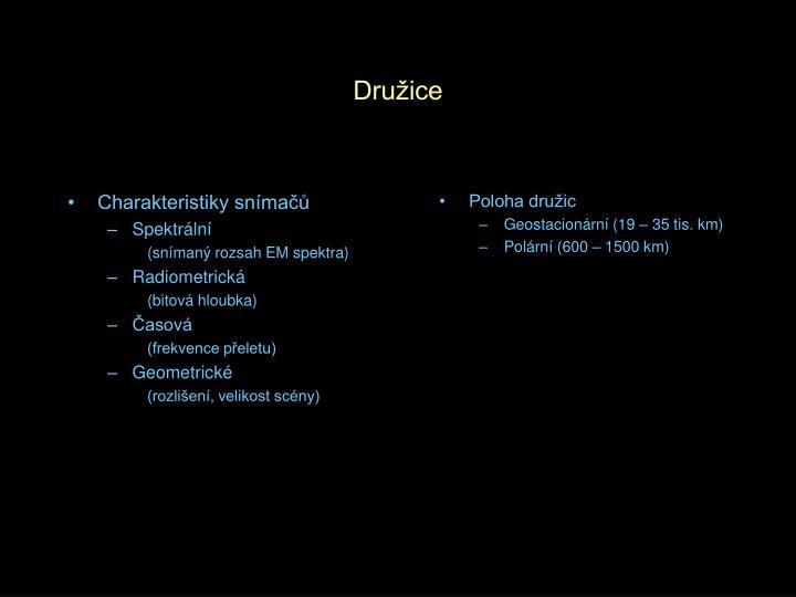 Charakteristiky snímačů
