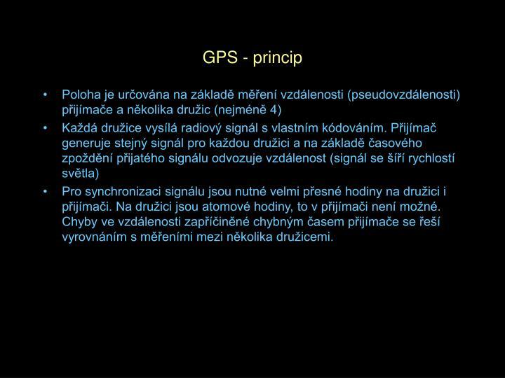 GPS - princip