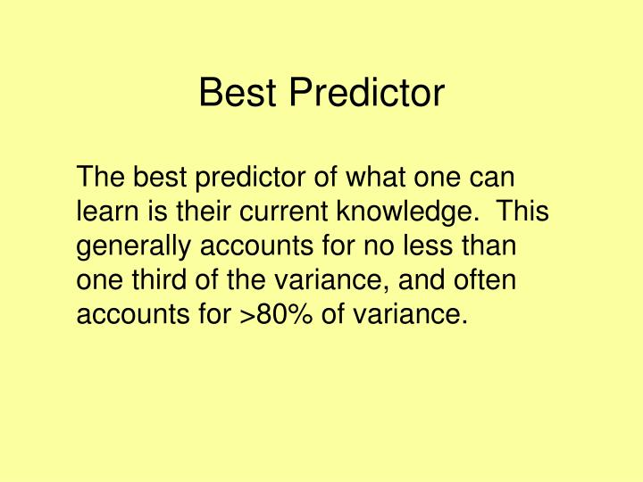 Best Predictor