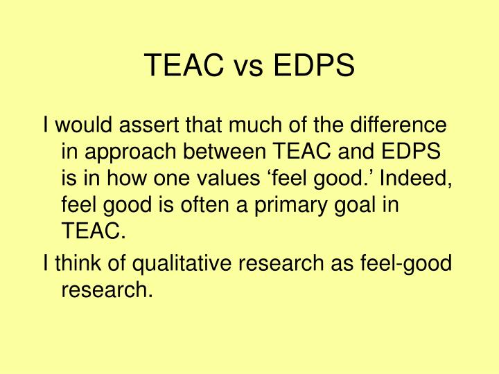 TEAC vs EDPS
