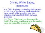 driving while eating continued1