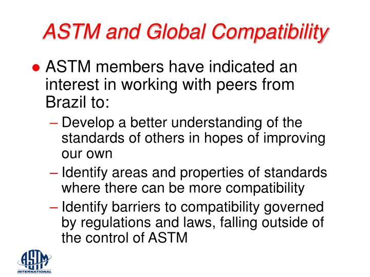 ASTM and Global Compatibility