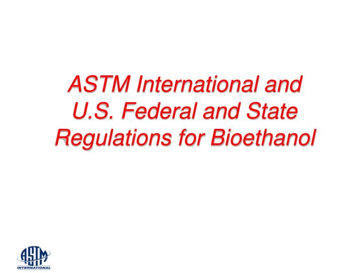 ASTM International and