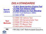 d02 a standards