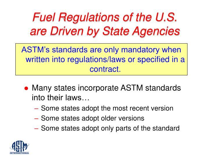 Fuel Regulations of the U.S.