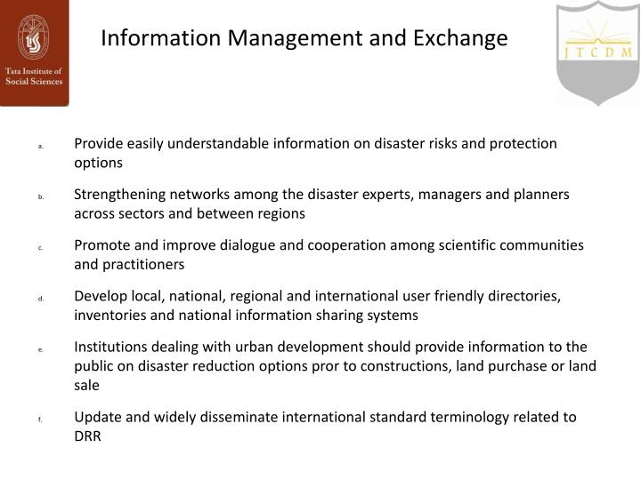 Information Management and Exchange
