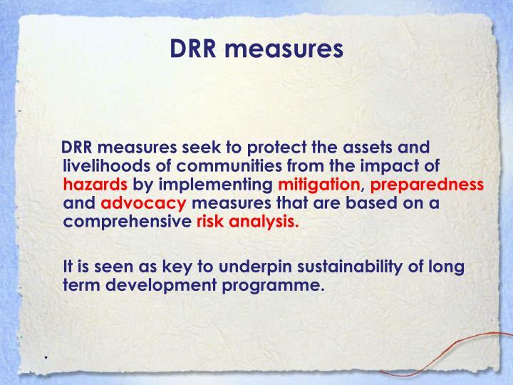 DRR measures