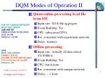 dqm modes of operation ii
