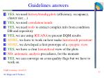guidelines answers