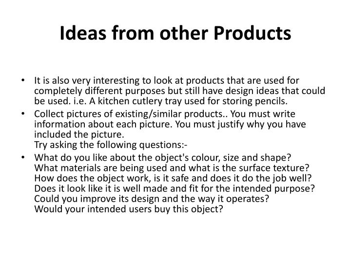 Ideas from other Products