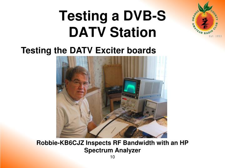 Testing the DATV Exciter boards
