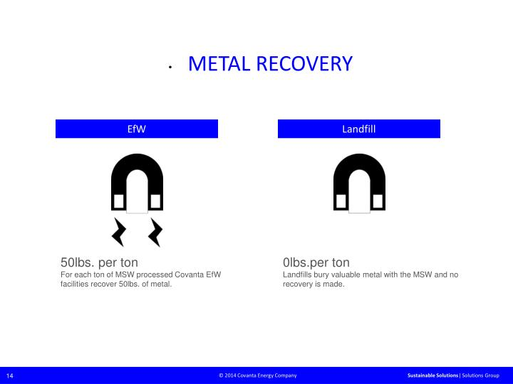 METAL RECOVERY