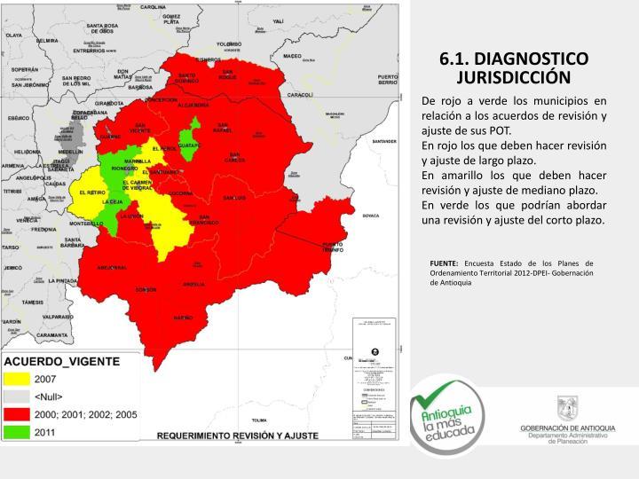 De rojo a verde los municipios en relación a los acuerdos de revisión y ajuste de sus POT.