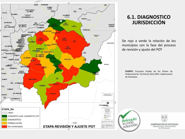 De rojo a verde la relación de los municipios con la fase del proceso de revisión y ajuste del POT