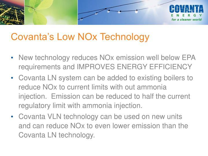 Covanta's Low NOx Technology