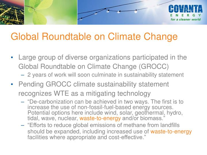 Global Roundtable on Climate Change