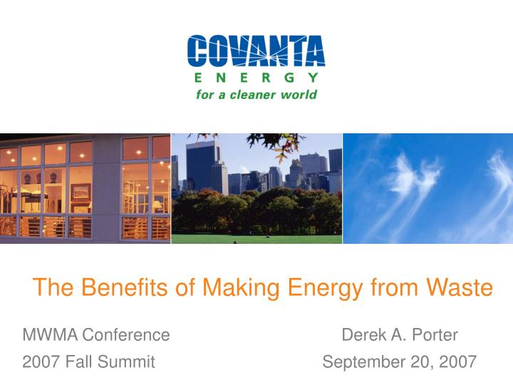 The Benefits of Making Energy from Waste