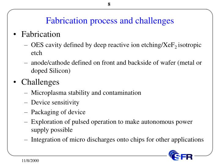 Fabrication process and challenges