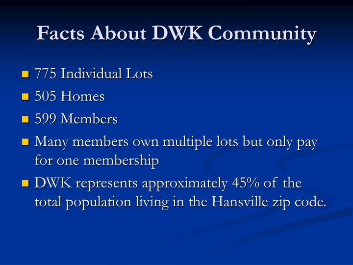 Facts About DWK Community