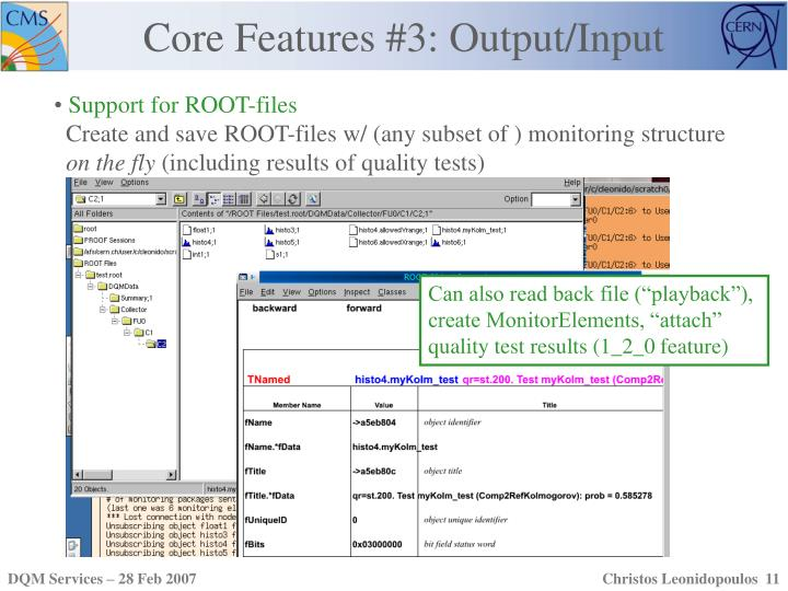 Core Features #3: Output/Input