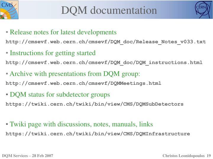 DQM documentation