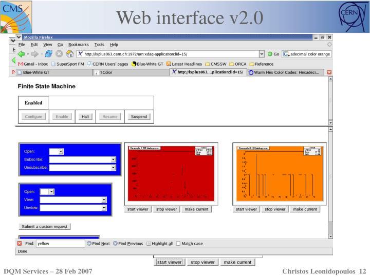 Web interface v2.0