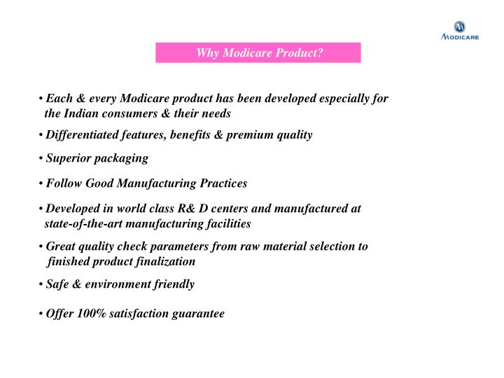 Why Modicare Product?
