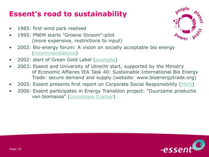 Essent's road to sustainability