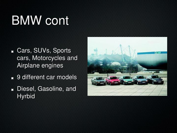 BMW cont