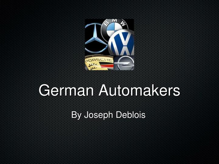 German automakers