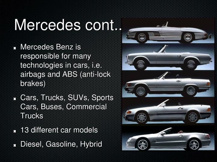 Mercedes cont..