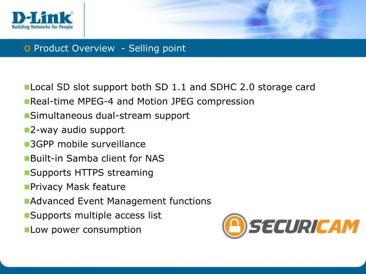 Product Overview  -