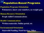 population based programs