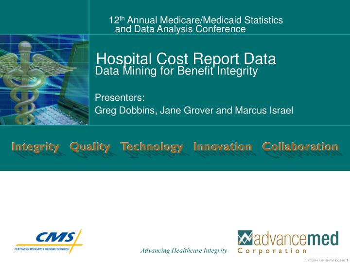 Hospital cost report data