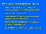 dvb standards development process