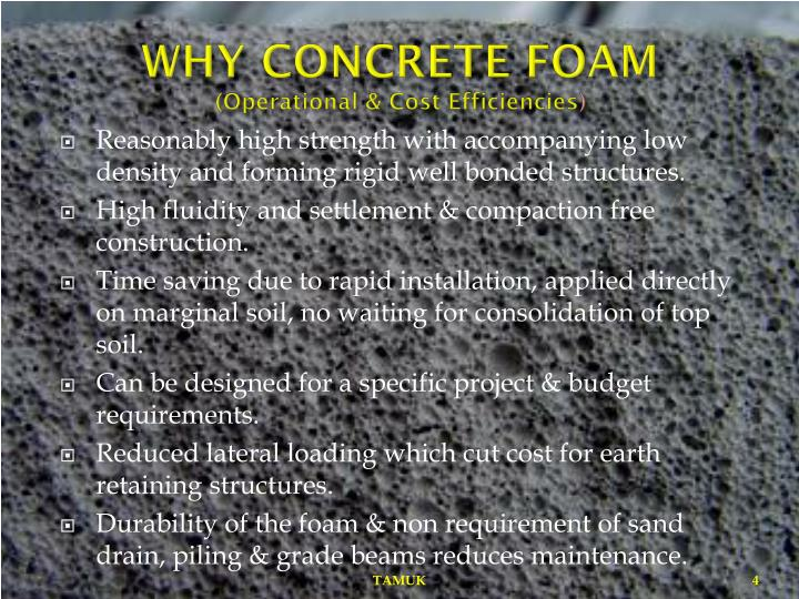 WHY CONCRETE FOAM